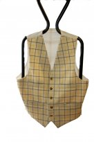 Picture of Gents Yellow Tattersall Hunting Waistcoat